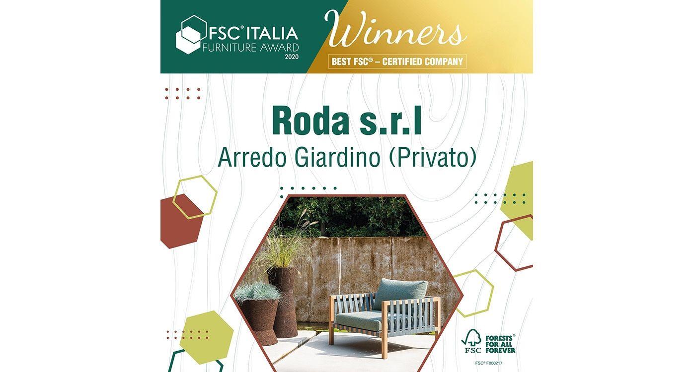 RODA premiata al concorso FSC® Italia Design Award